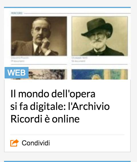 Milano, il mondo dell'opera si fa digitale: online l'Archivio Ricordi 13 - Savona