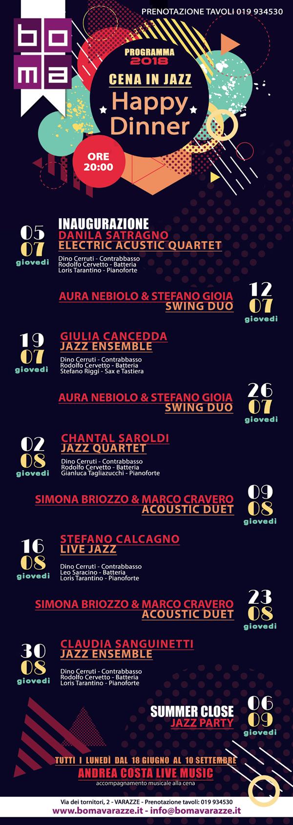 Calendario Eventi.Calendario Eventi 2018 Boma Ristorante Tatoosa Creative